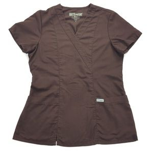 Grey's Anatomy | Dark Brown Scrub Top